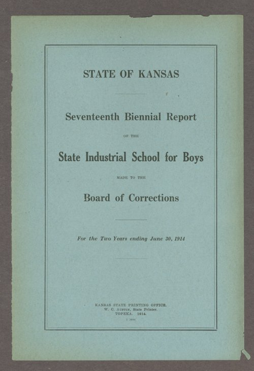 Biennial report of the Boys Industrial School, 1914 - Page