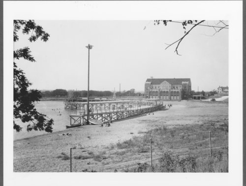 Swimming area and clubhouse at Lake Quivira, Kansas - Page