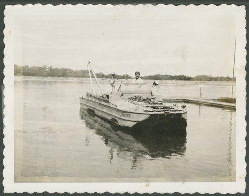 Duane Everhart with his boat at Lake Quivira, Kansas - Page