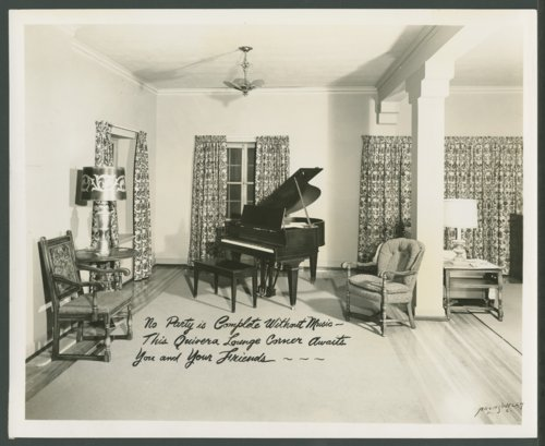 Piano in the clubhouse at Lake Quivira, Kansas - Page