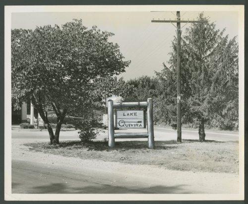 Sign at Lake Quivira, Kansas - Page