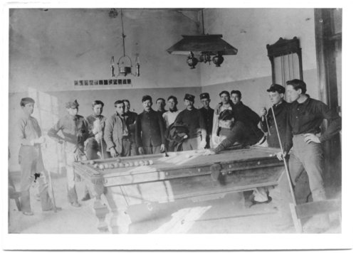 Game of billiards, Fort Leavenworth, Kansas - Page