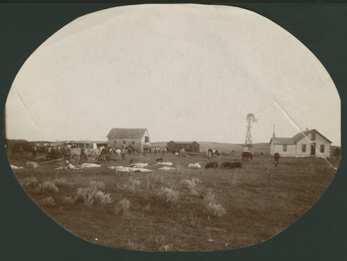 Round-up crew on a ranch possibly in Seward County, Kansas - Page