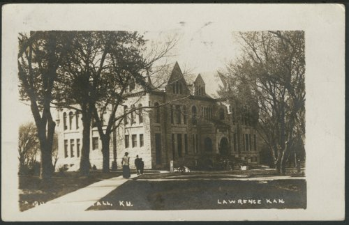 Postcard, University of Kansas, Lawrence, Kansas