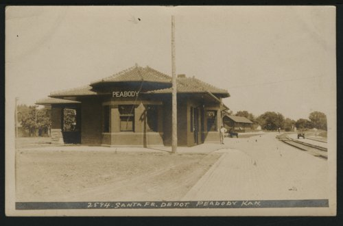 Atchison, Topeka and Santa Fe Railway Company depot, Peabody, Kansas - Page