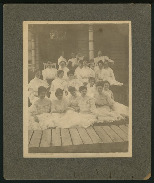 Group of women possibly in either Florence or Peabody, Kansas - Page