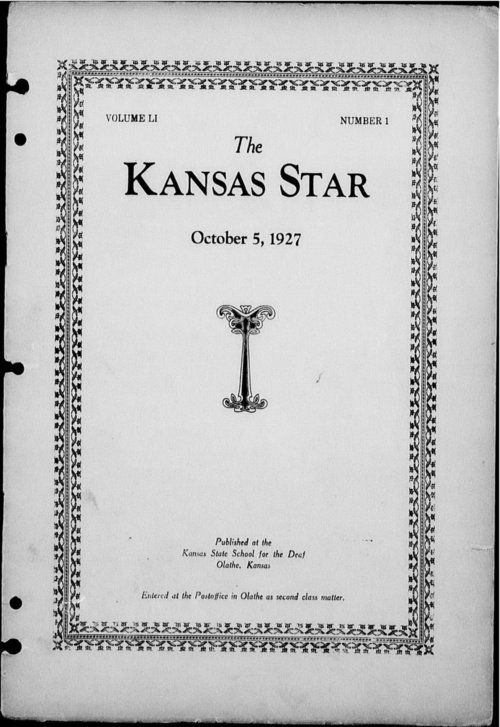 The Kansas Star, volume 51, number 1 - Page