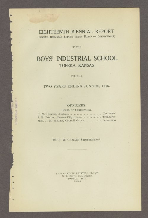 Biennial report of the Boys Industrial School, 1916 - Page