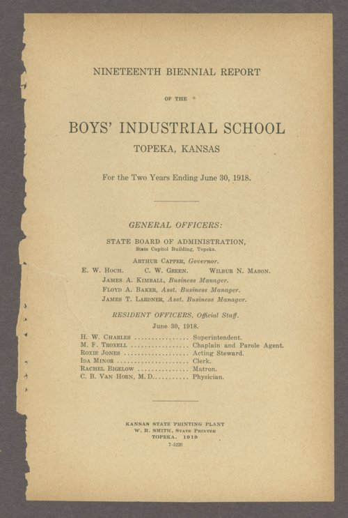 Biennial report of the Boys Industrial School, 1918 - Page