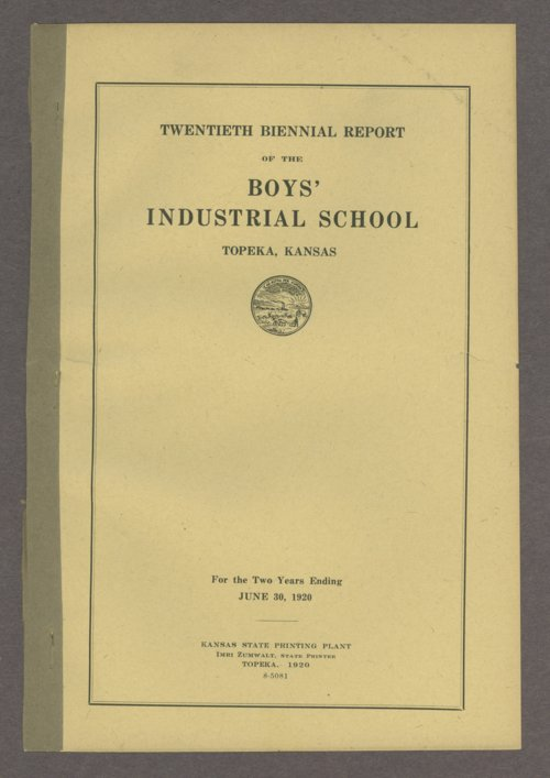 Biennial report of the Boys Industrial School, 1920 - Page