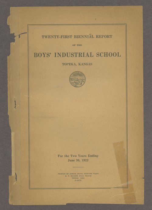 Biennial report of the Boys Industrial School, 1922 - Page