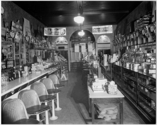 Drug store and soda fountain in McPherson, Kansas - Page