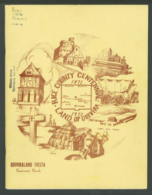 Rice County Centennial 1871 - 1971 Land of Quivira Souvenir Book - Page