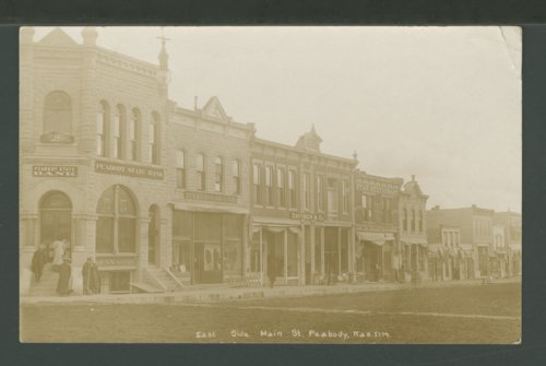 East side of Main Street in Peabody, Kansas - Page