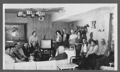 Football party in the clubhouse at Lake Quivira, Kansas - Page