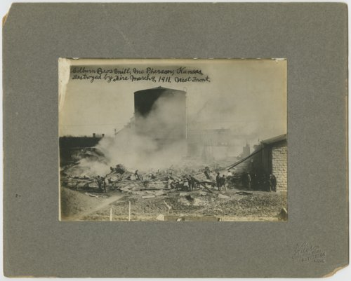 Colburn Brothers Mill fire in McPherson, Kansas - Page