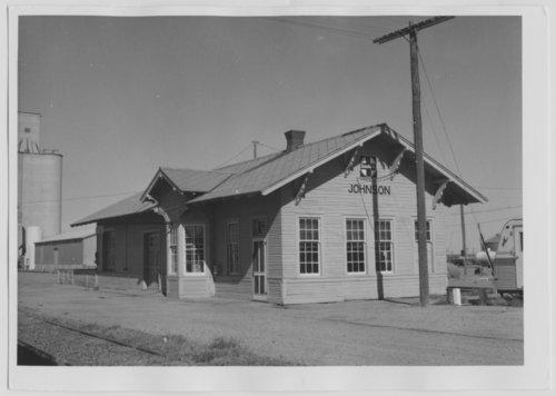 Atchison, Topeka & Santa Fe Railway Company depot, Johnson, Kansas - Page