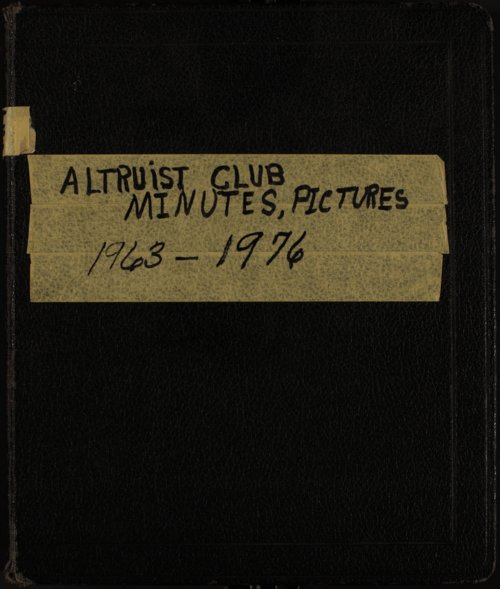 Central Congregational Church Altruist Club - Page