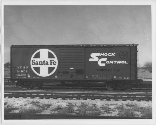 Atchison, Topeka & Santa Fe Railway Company's box car no. 16929 - Page