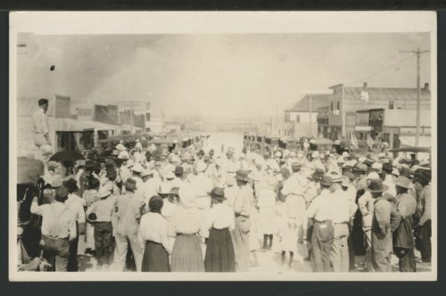 Citizens gathered in the streets, Liberal, Kansas - Page