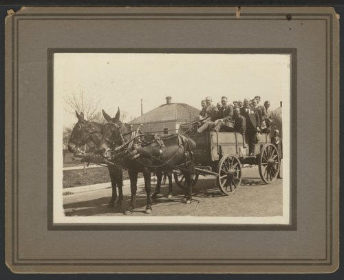 Wagon full of men, Liberal, Kansas - Page