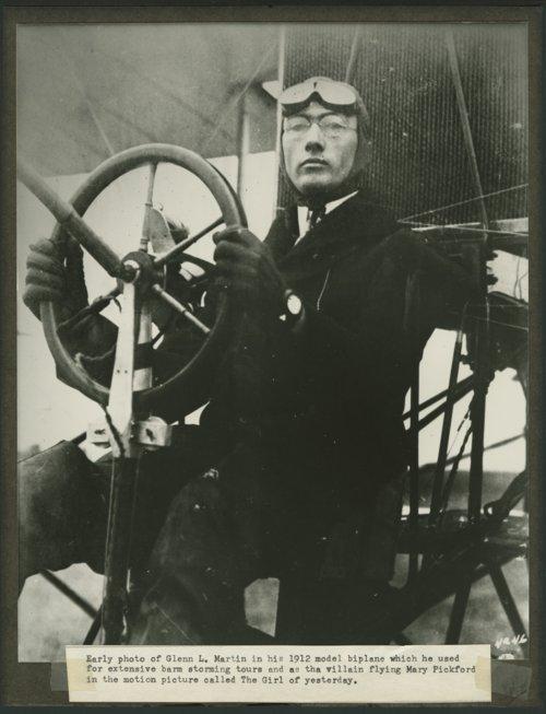 Glenn L. Martin and his 1912 model biplane - Page