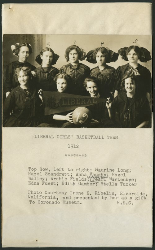 Liberal girl's basketball team, Liberal, Kansas - Page