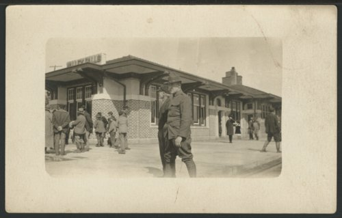 Soldiers at the depot in Valley Falls, Kansas - Page