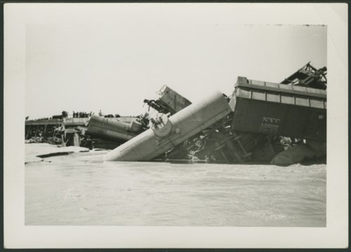 Train wreck on the Cimarron River in Seward County, Kansas - Page