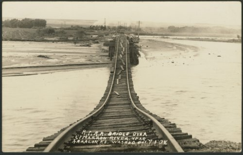 Chicago, Rock Island & Pacific Railroad bridge near Arkalon, Kansas - Page