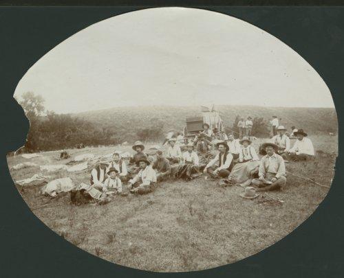 Cowboys with a chuck wagon in Seward County, Kansas - Page