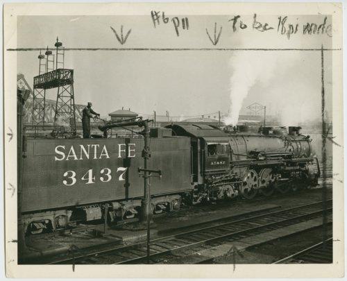 Atchison, Topeka & Santa Fe Railway Company's steam locomotive #3437 - Page