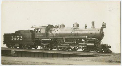 Atchison, Topeka & Santa Fe Railway Company's steam locomotive #1452 - Page