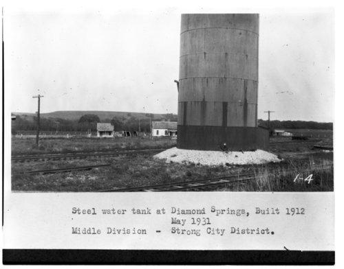 Atchison, Topeka & Santa Fe Railway Company's water tank, Diamond Springs, Kansas - Page