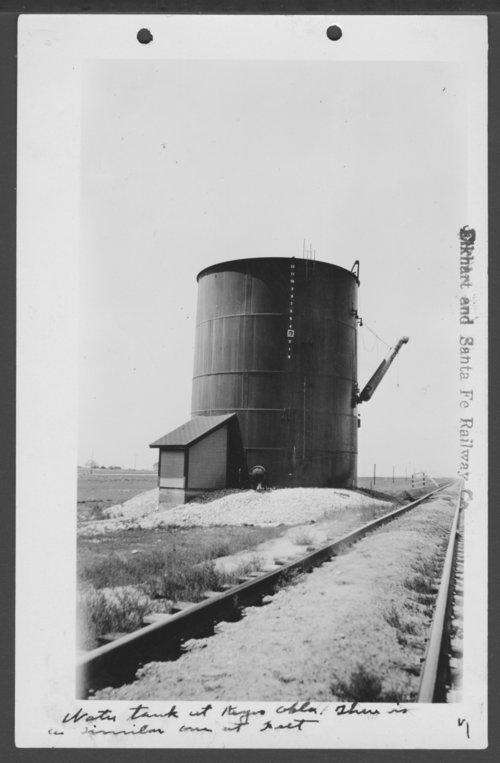 Elkhart & Santa Fe Railway Company water tank, Keyes, Oklahoma - Page