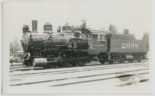 Atchison, Topeka & Santa Fe Railway Company's steam locomotive #2038 - Page