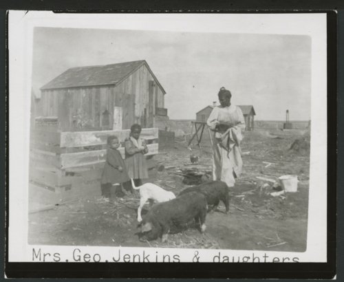 Mrs. George Jenkins and daughters, Clark County, Kansas - Page