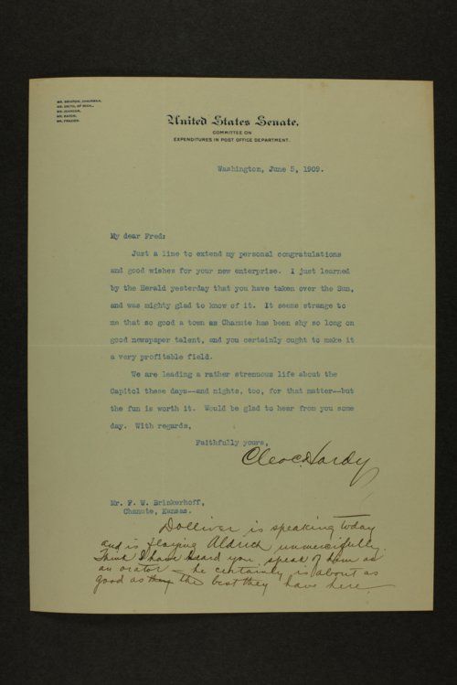 Frederick W. Brinkerhoff correspondence - Page