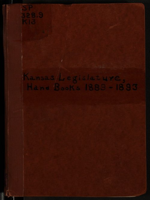 Hand book of the Kansas Legislature - Page