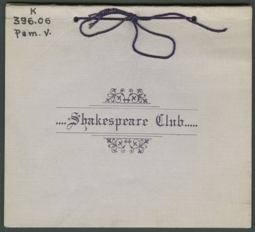 Shakespeare Club in Galena, Kansas - Page
