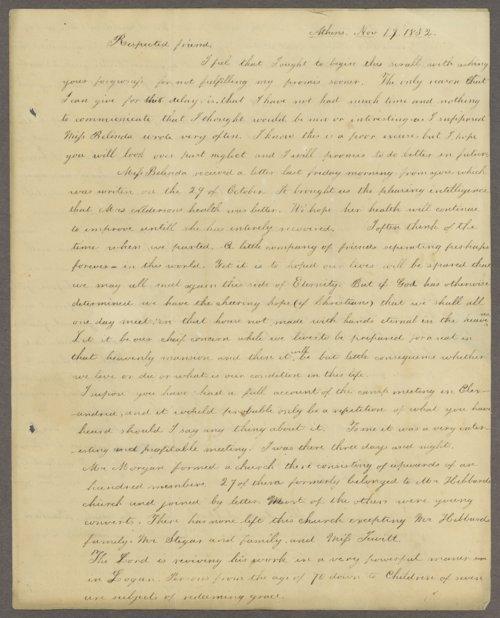 C. G. Taylor to Lewis Allen Alderson - Page