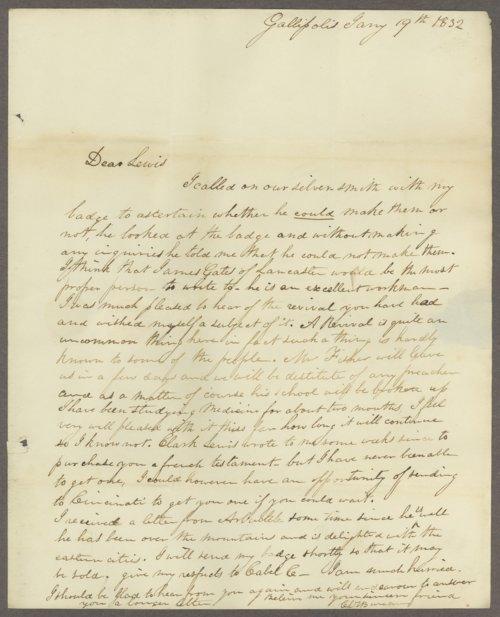 C. L. V. Bureau to Lewis Allen Alderson - Page