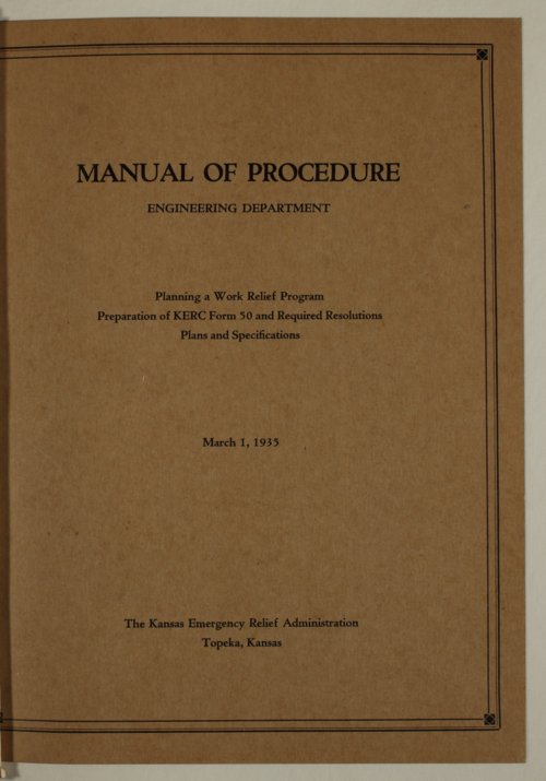Manual of procedure, engineering department - Page