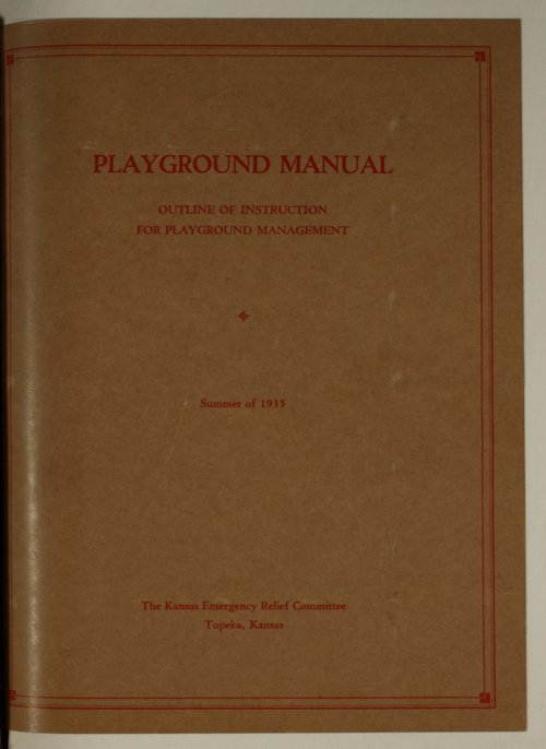 Playground manual, outline of instruction for playground management - Page