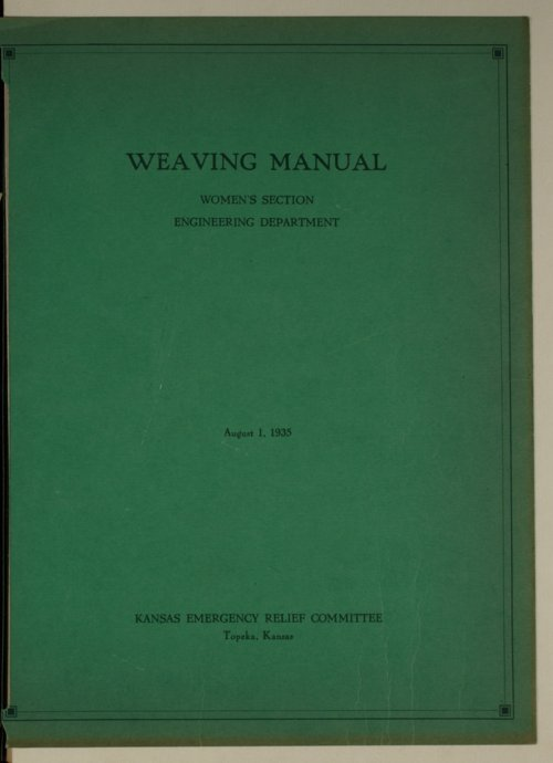 Weaving manual, women's section, engineering department - Page