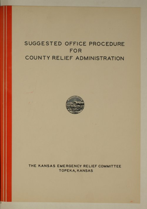 Suggested office prodedure for county relief administration - Page