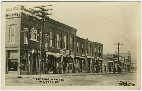 West side of Main Street in Hartford, Kansas - Page