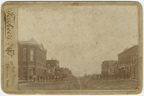 Business street in Hartford, Kansas - Page