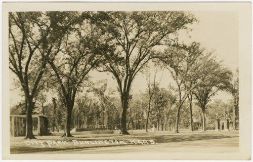 City park in Burlington, Kansas - Page