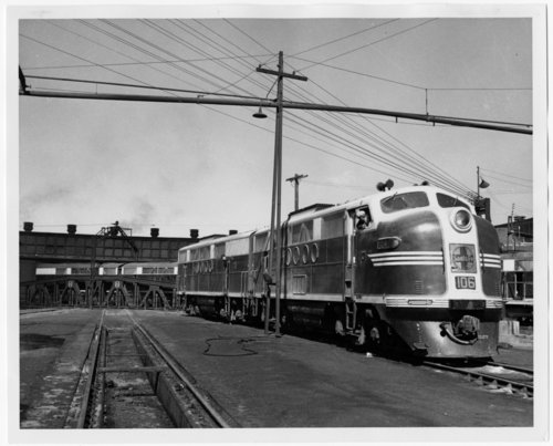 Atchison, Topeka & Santa Fe Railway Company diesel engine #106 in Winslow, Arizona - Page
